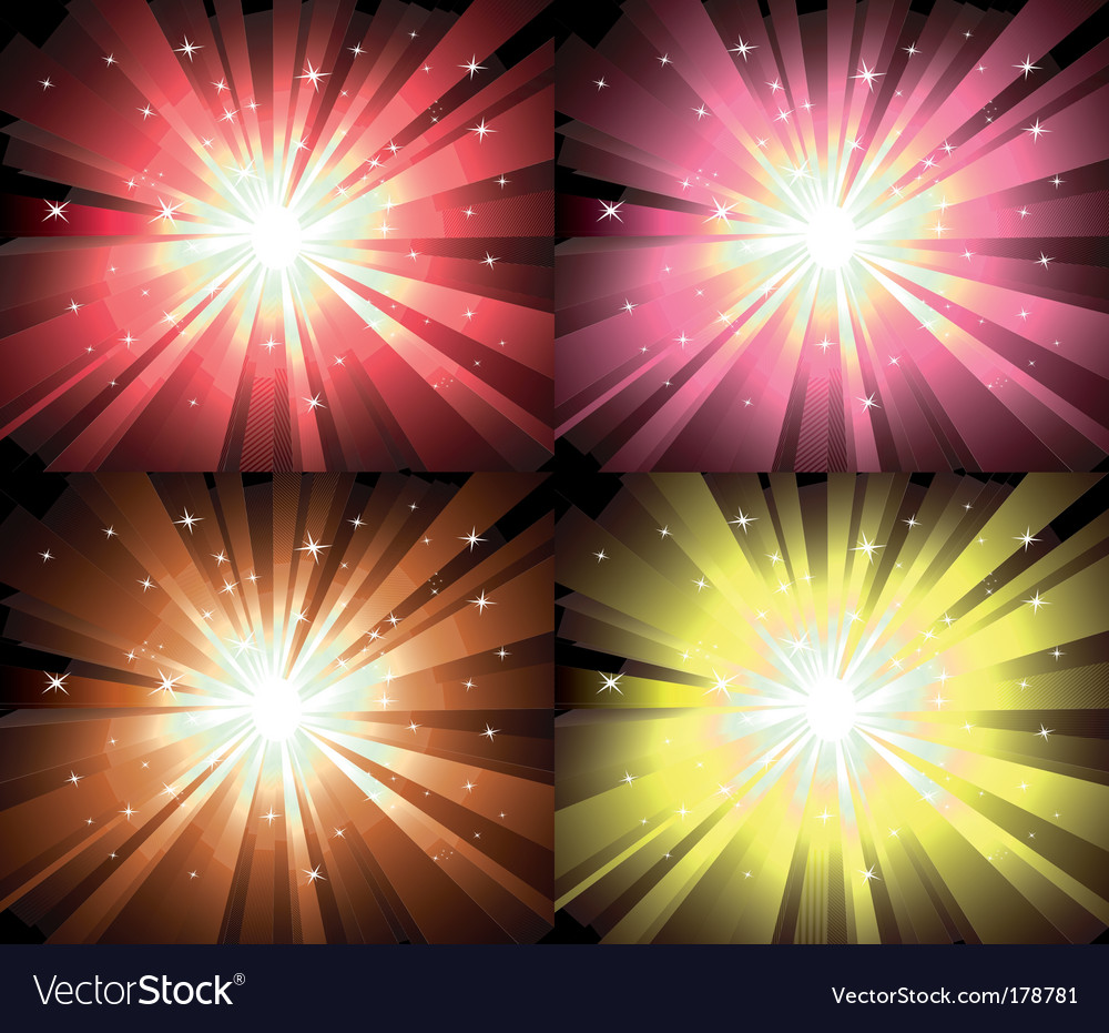 Christmas magic lights explosion