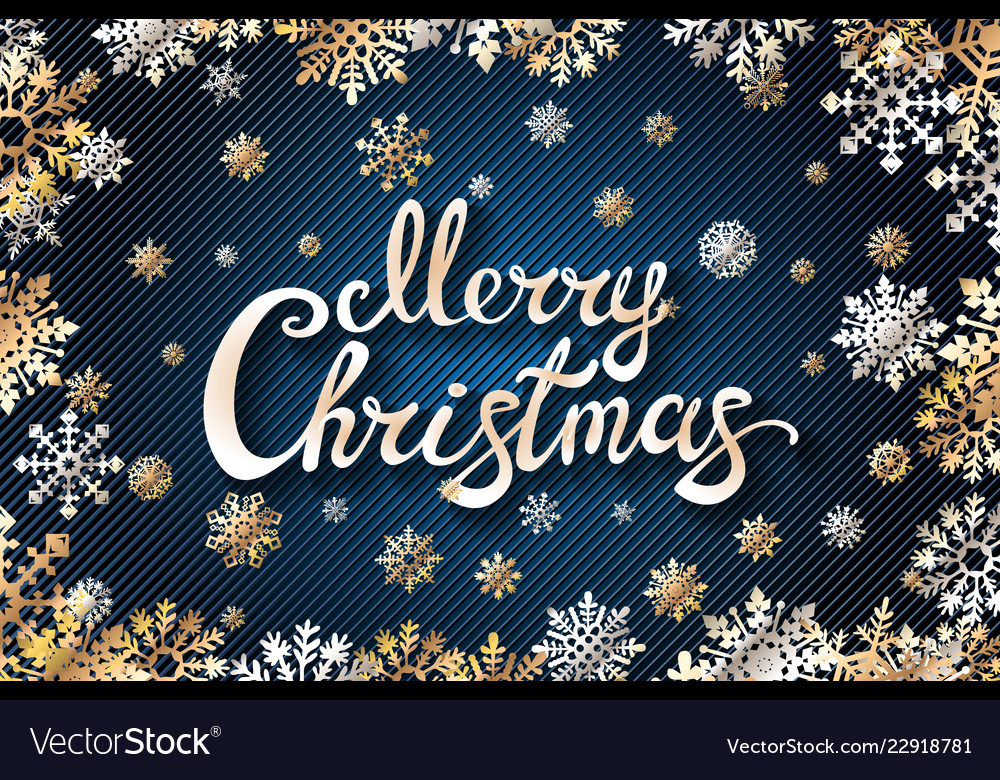 Merry chrismas snowflackes lettering perfect for