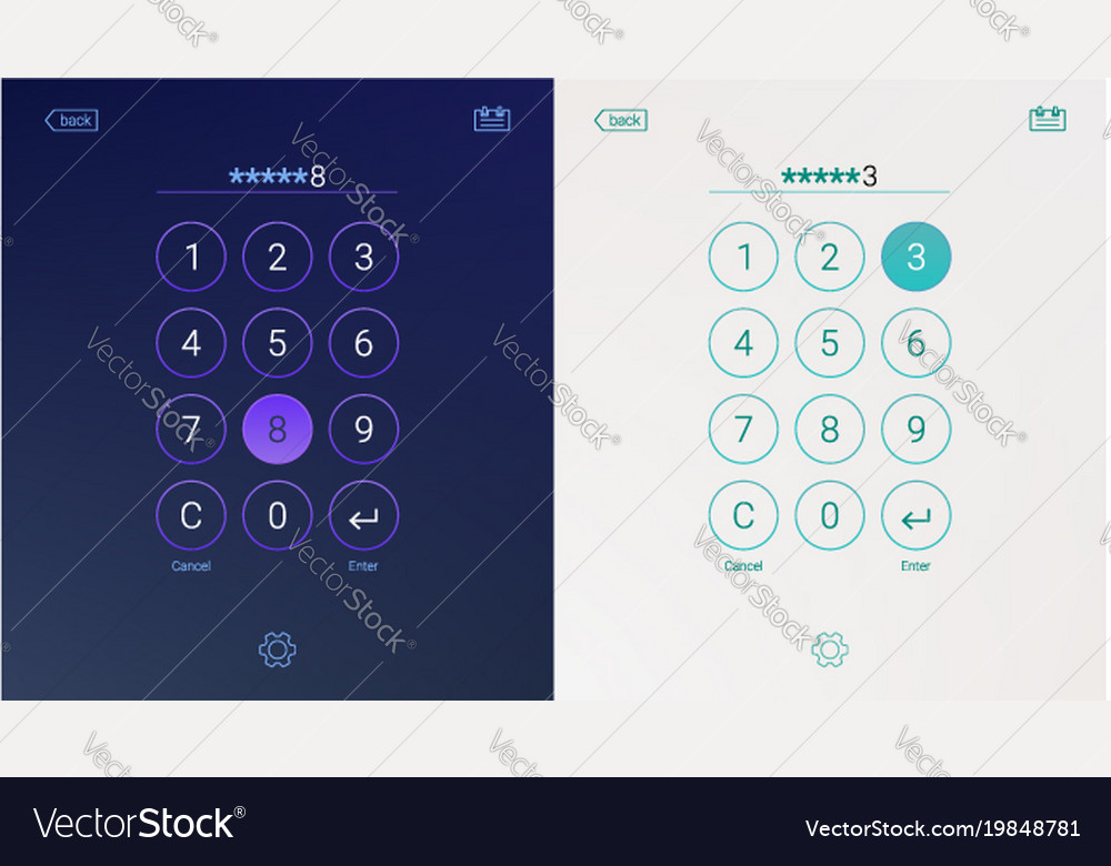 Passcode interface for lock screen login or enter