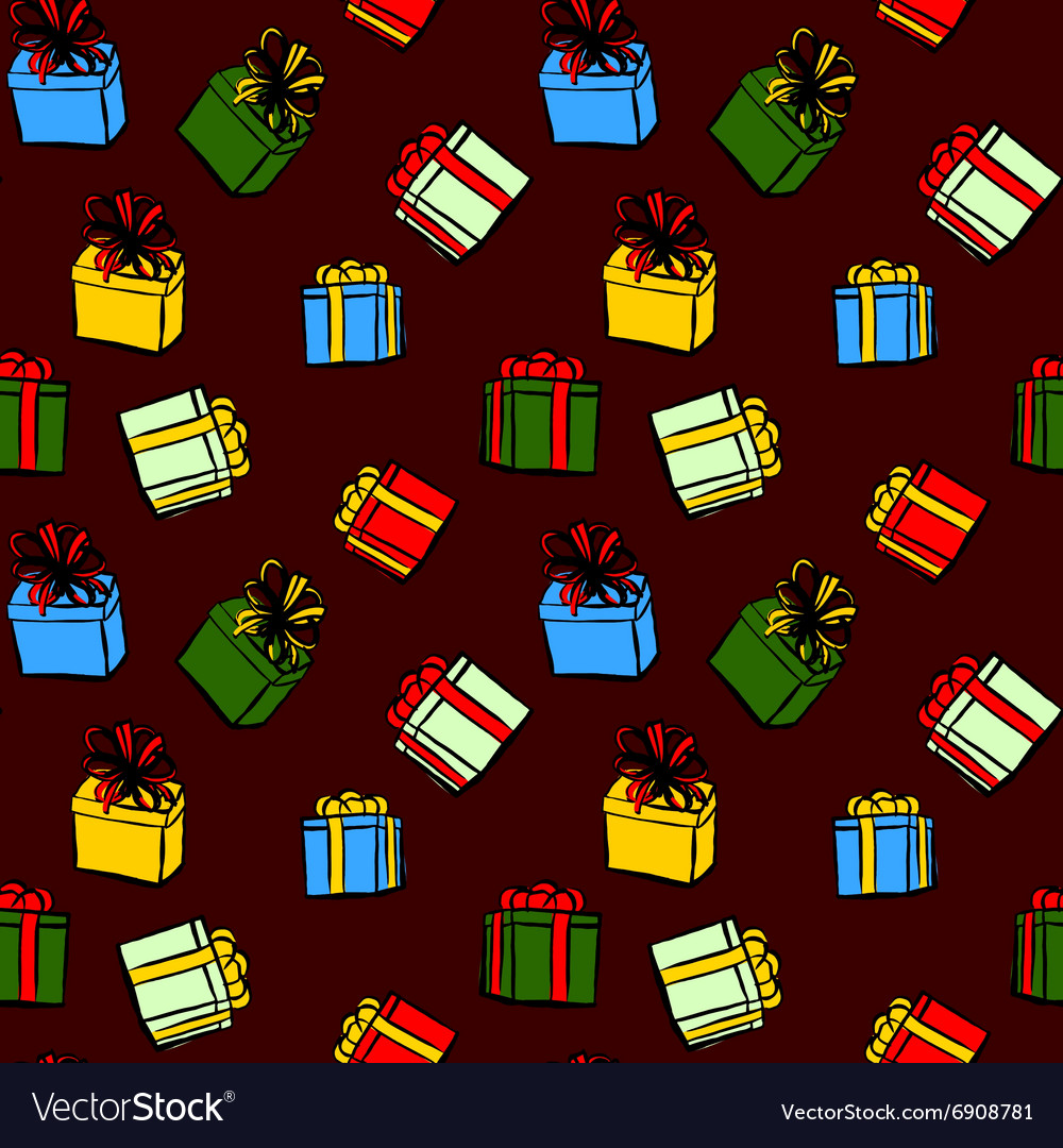 Pattern with Christmas gifts
