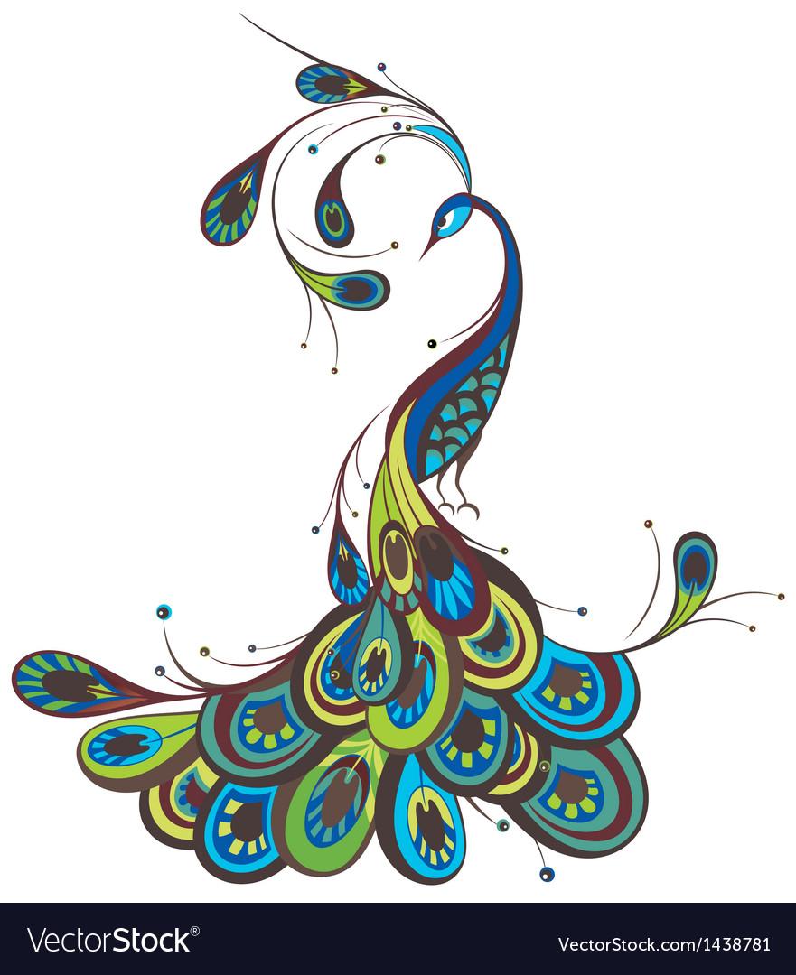 peacock royalty free vector image vectorstock rh vectorstock com peacock vector plasma ready to cut peacock vector free