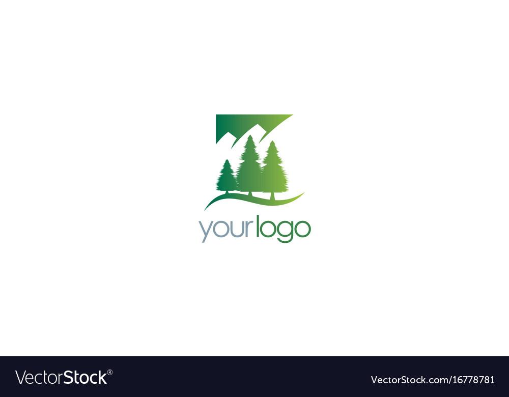 Pine tree mountain logo