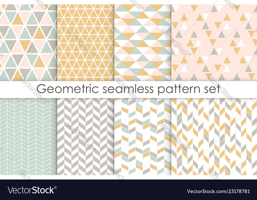 Set of abstract seamless patterns collection of