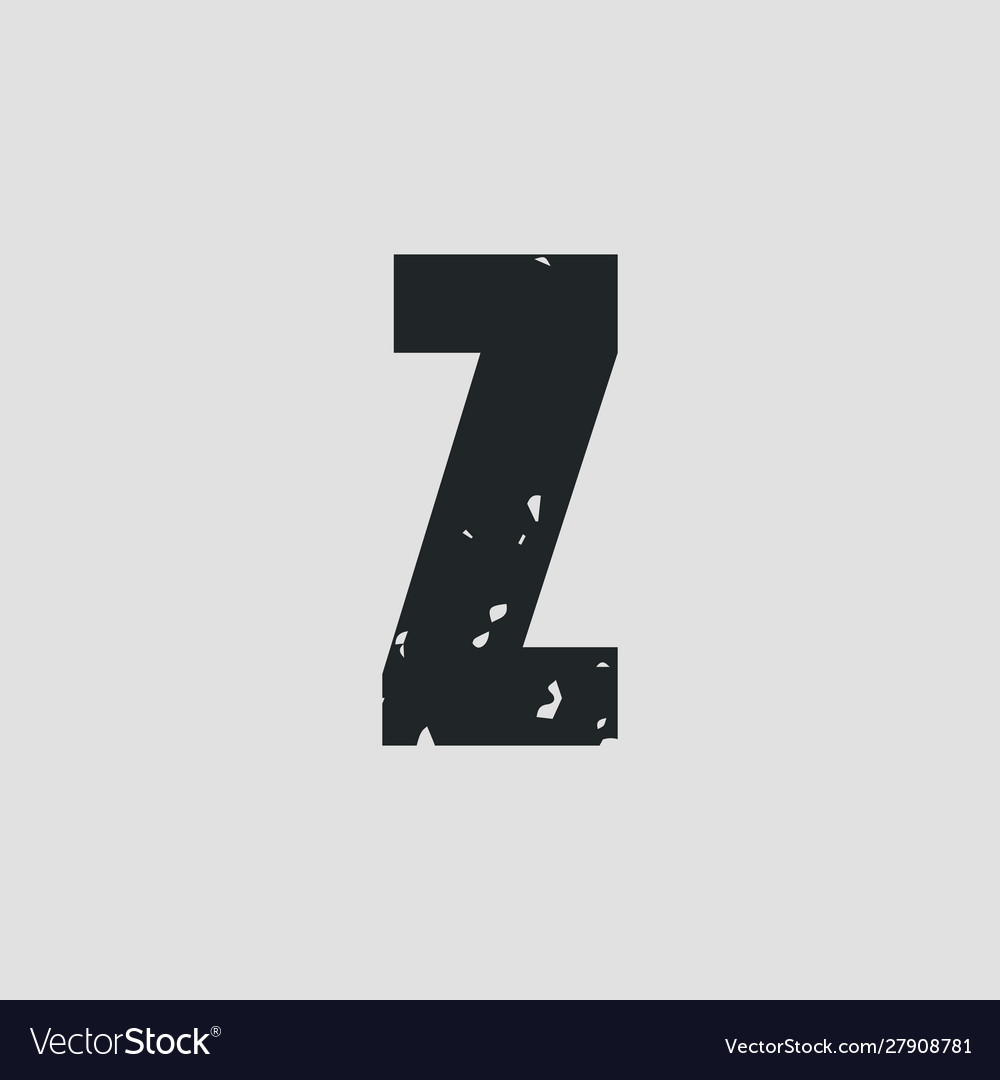 Z letter grunge style eps10