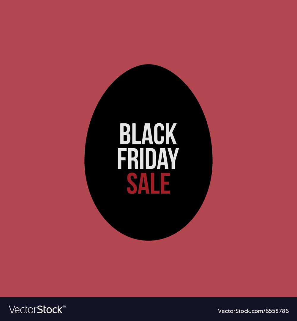 Black Friday Sale Text on Egg Label