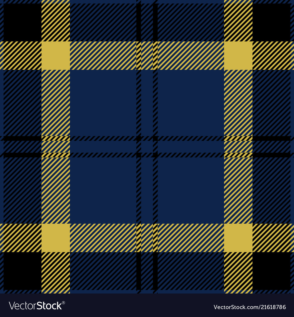 Blue Black And Yellow Tartan Plaid Seamless Patter