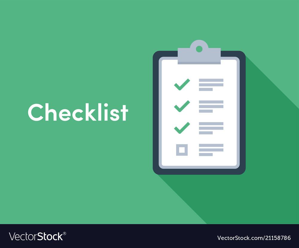 Checklist brief survey icon