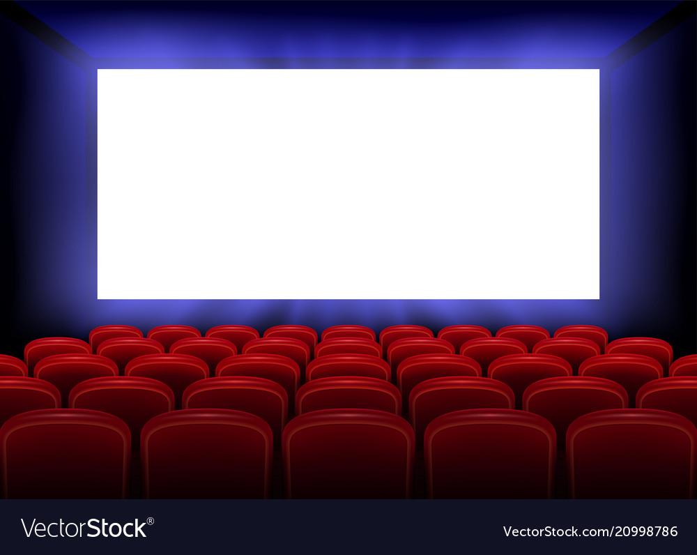 Cinema movie premiere poster design with empty