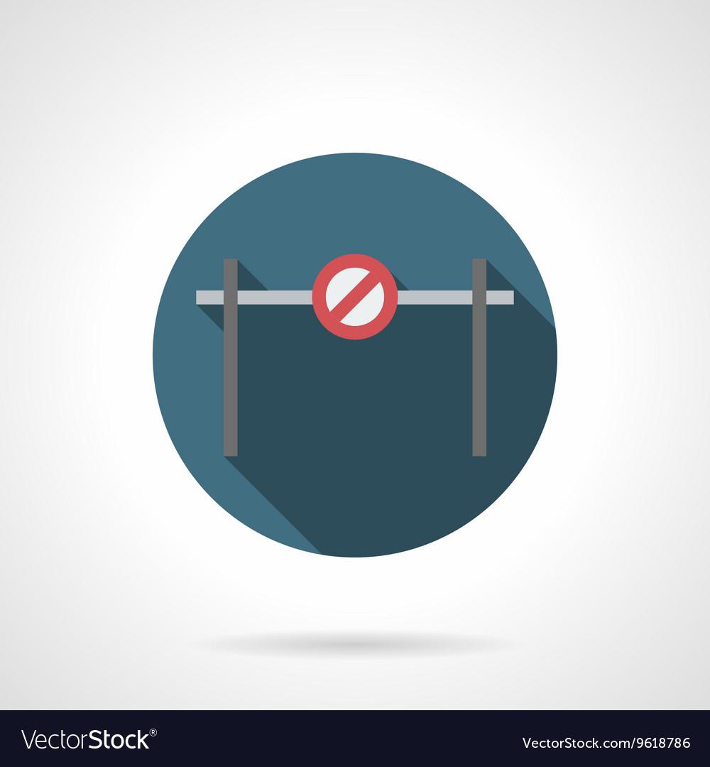 Forbidden barrier round flat icon