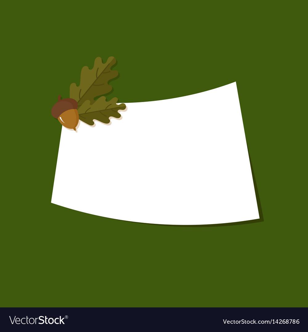 Greetings card with oak acorns