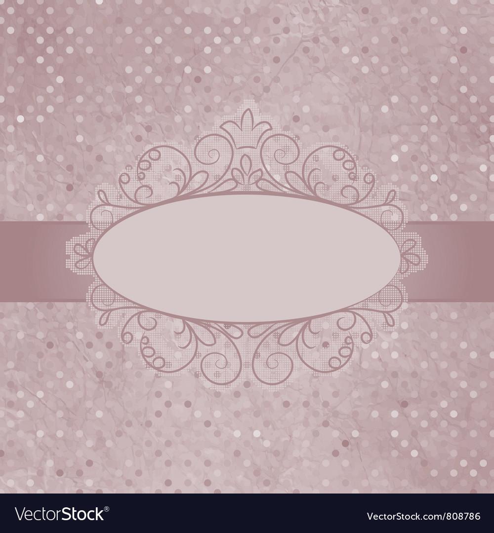Vintage Polka Dots Card