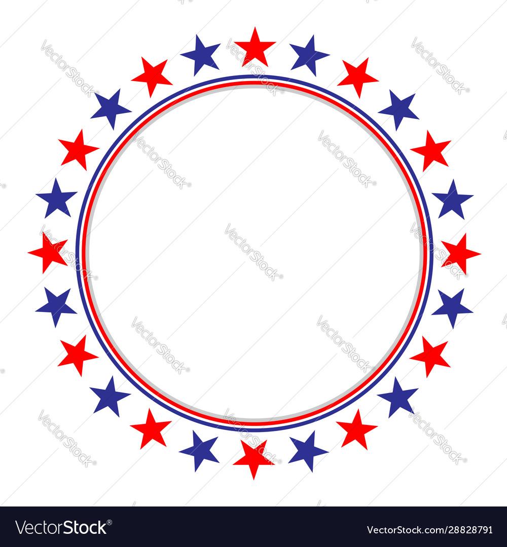 American flag stars symbols frame