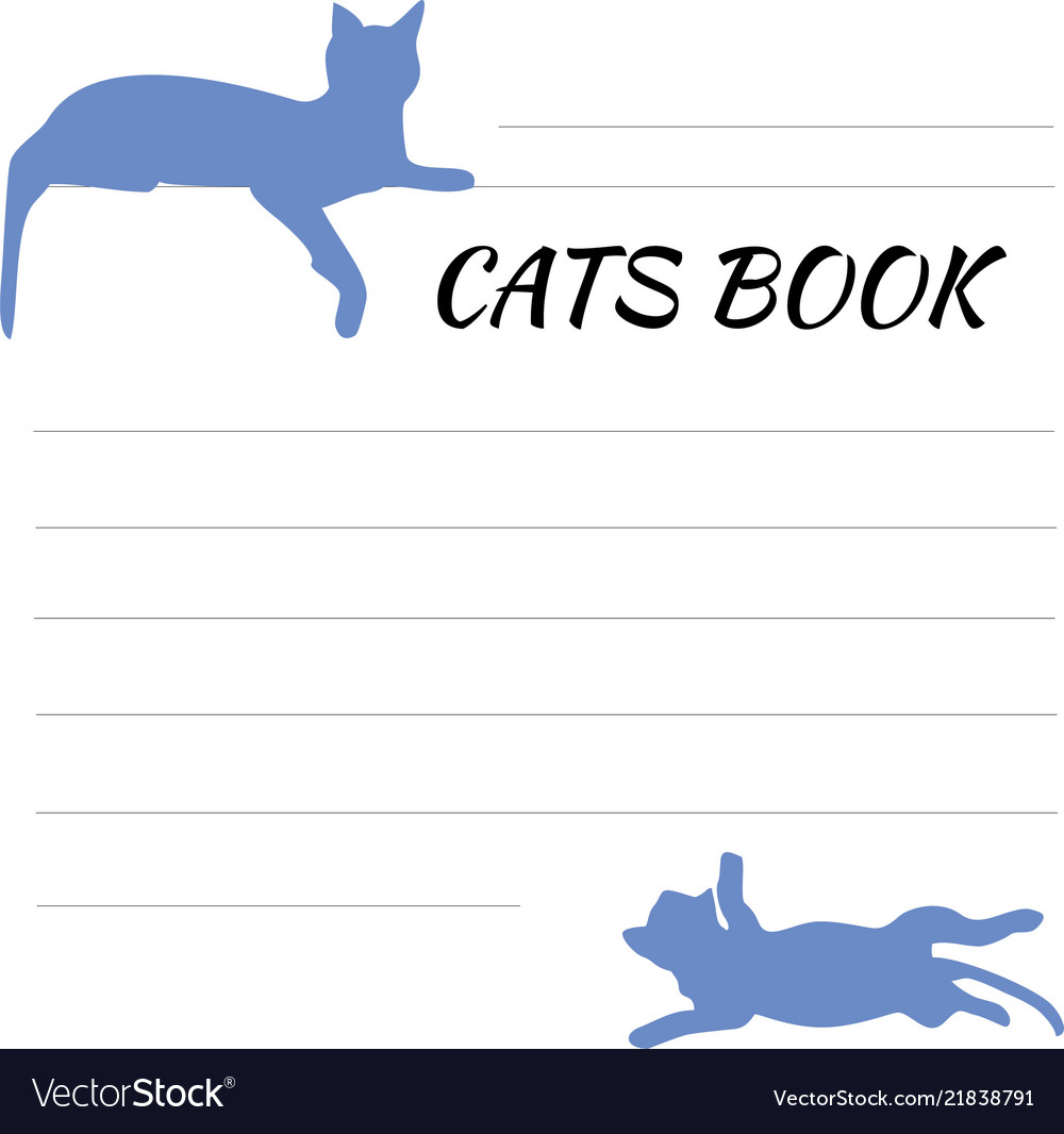 Blank for records with cat sign-up sheet with cats