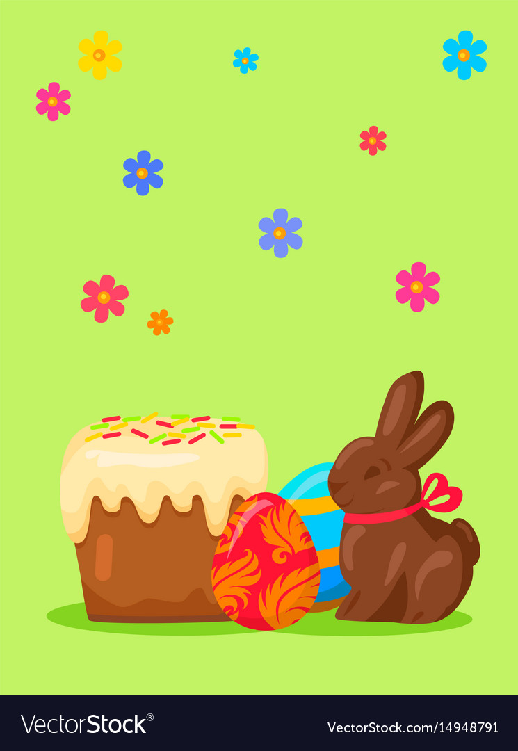 Easter festive concept with traditional meals