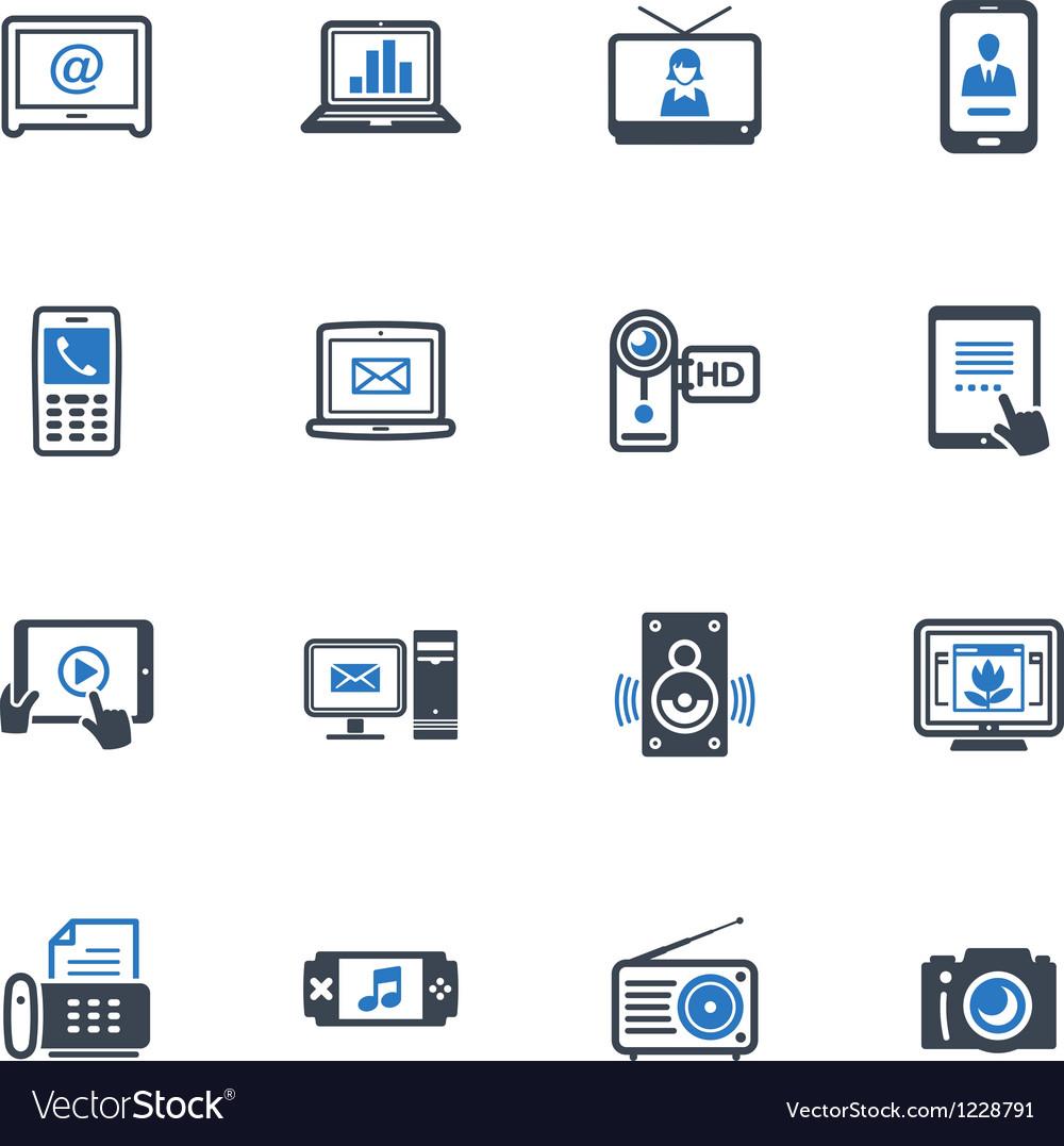 Electronics Icons - Blue Series