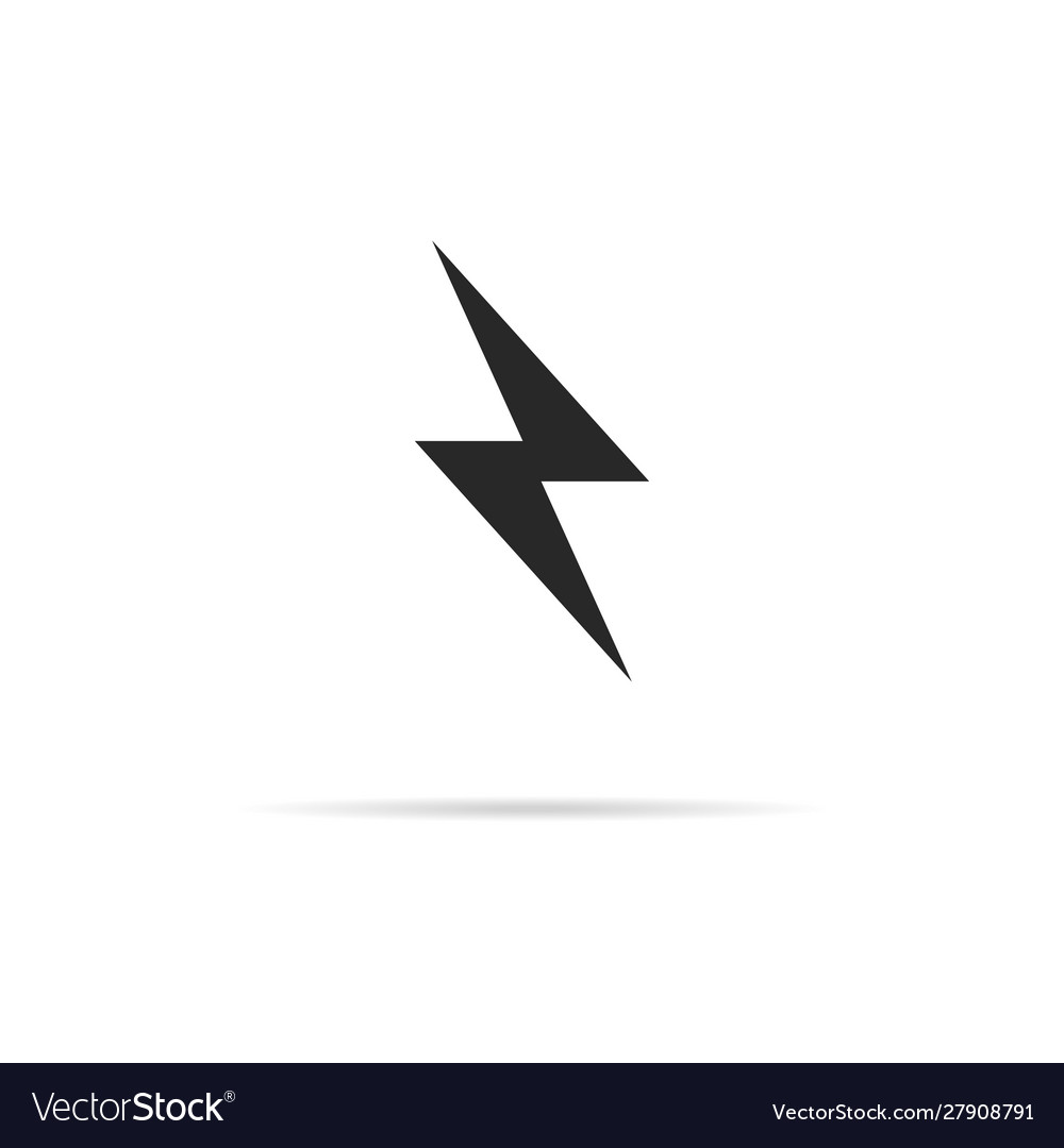 Flash icon with shadow simple design