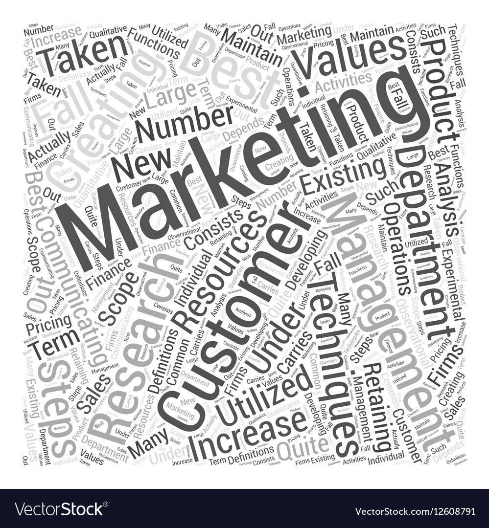 Marketing Management Word Cloud Concept