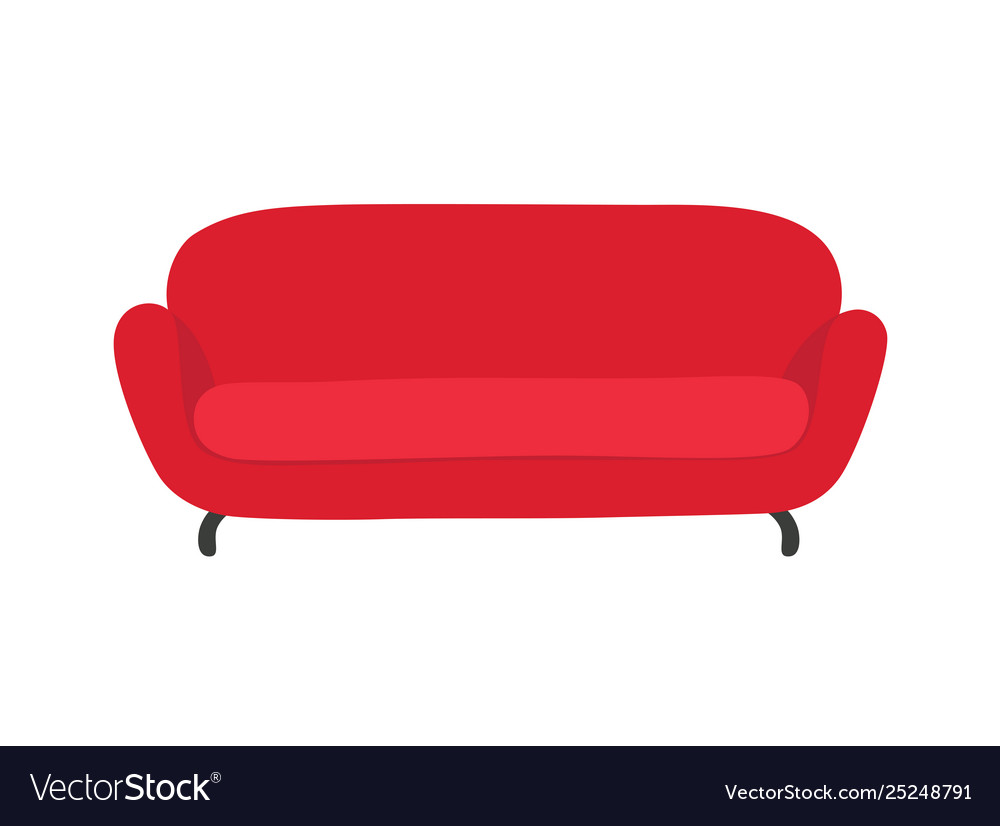 Sofa and couch red colorful cartoon