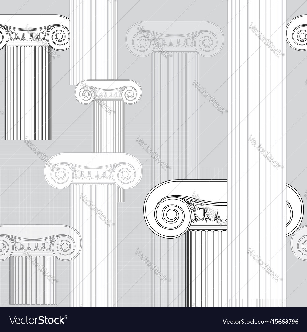 Classic columns seamless background roman