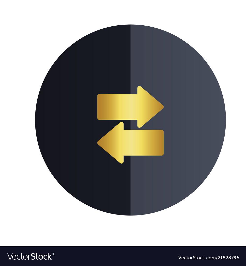 Data transfer icon black circle background