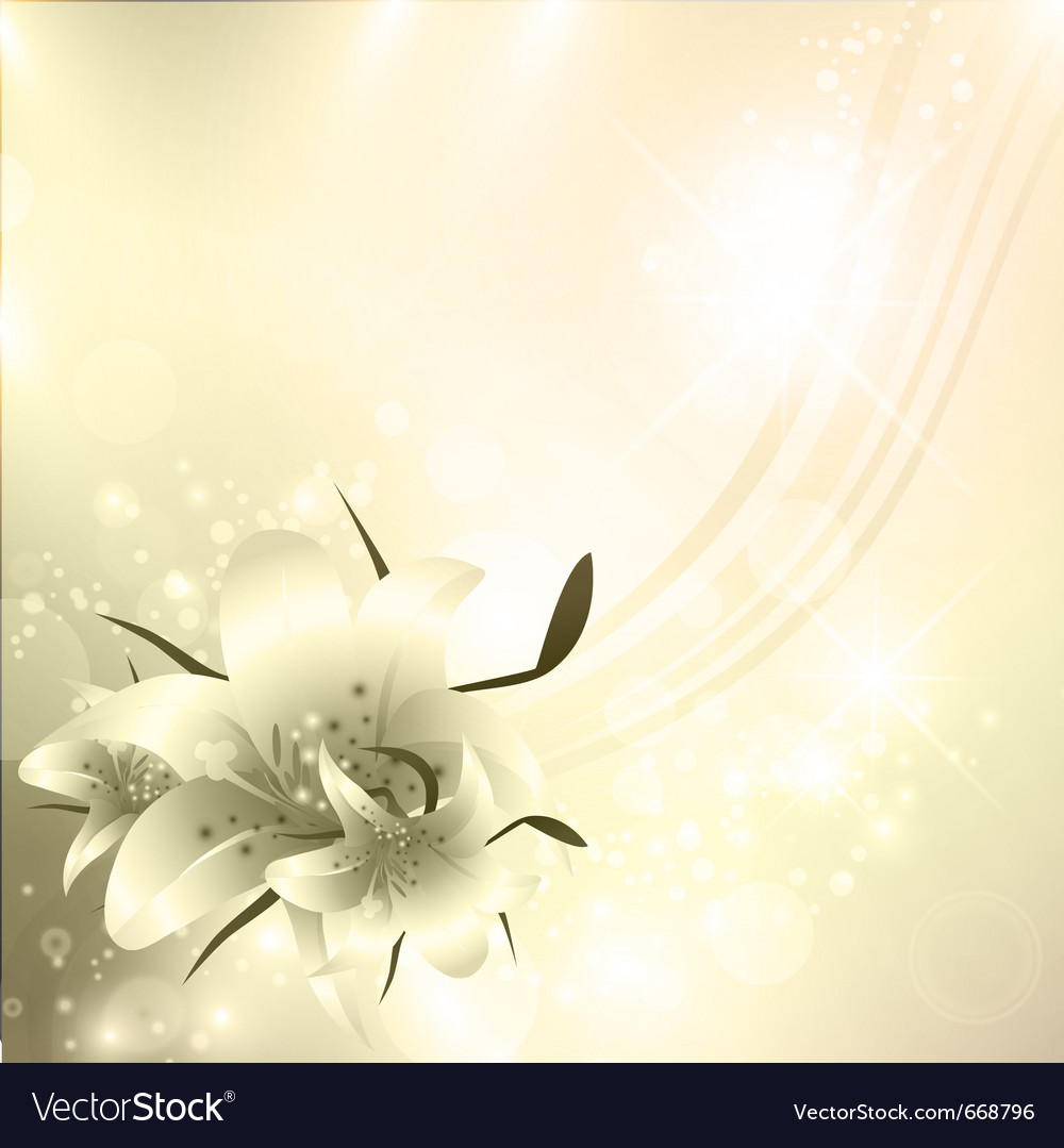 Golden floral holiday background
