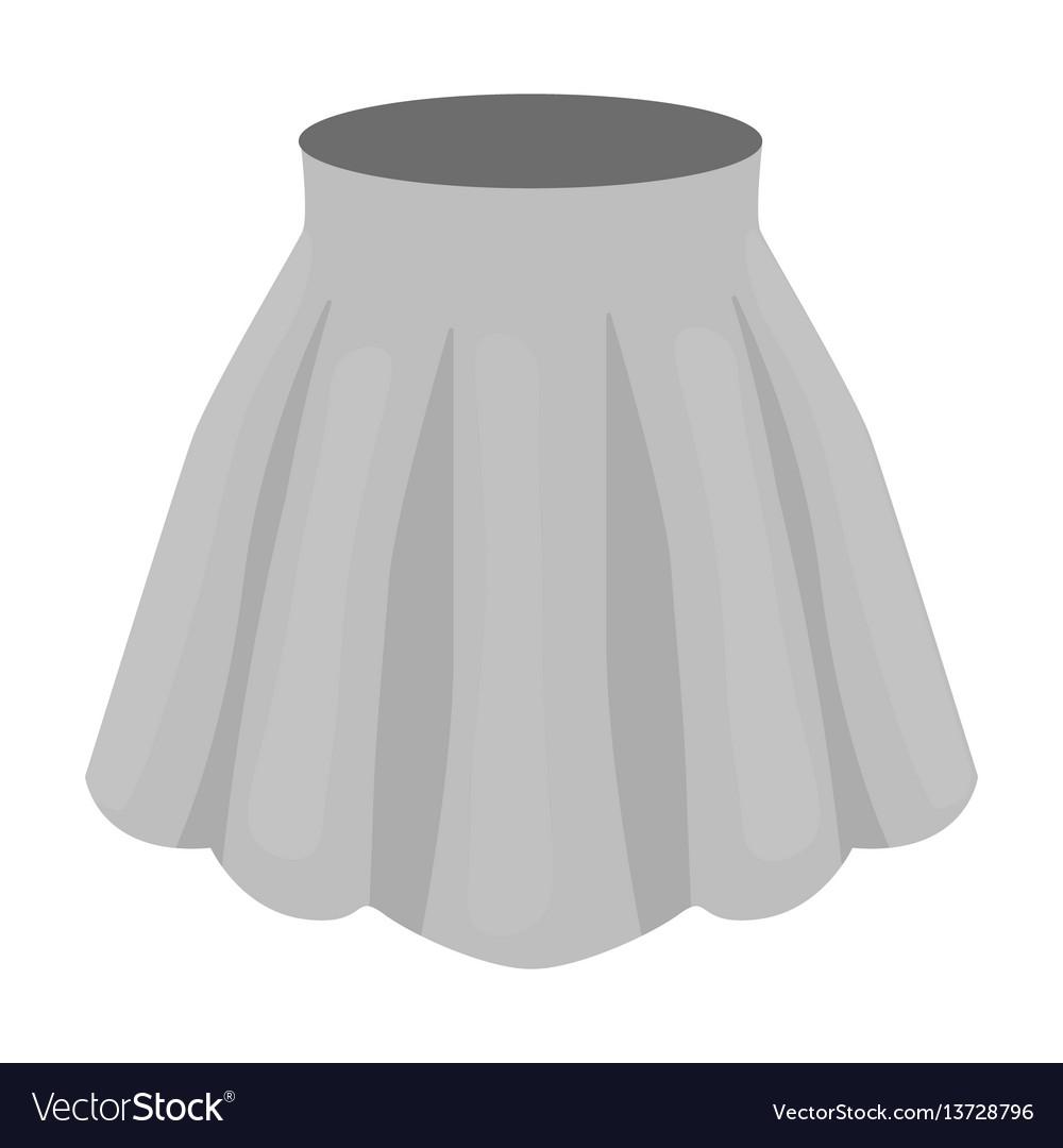 Orange women s light summer skirt with pleats