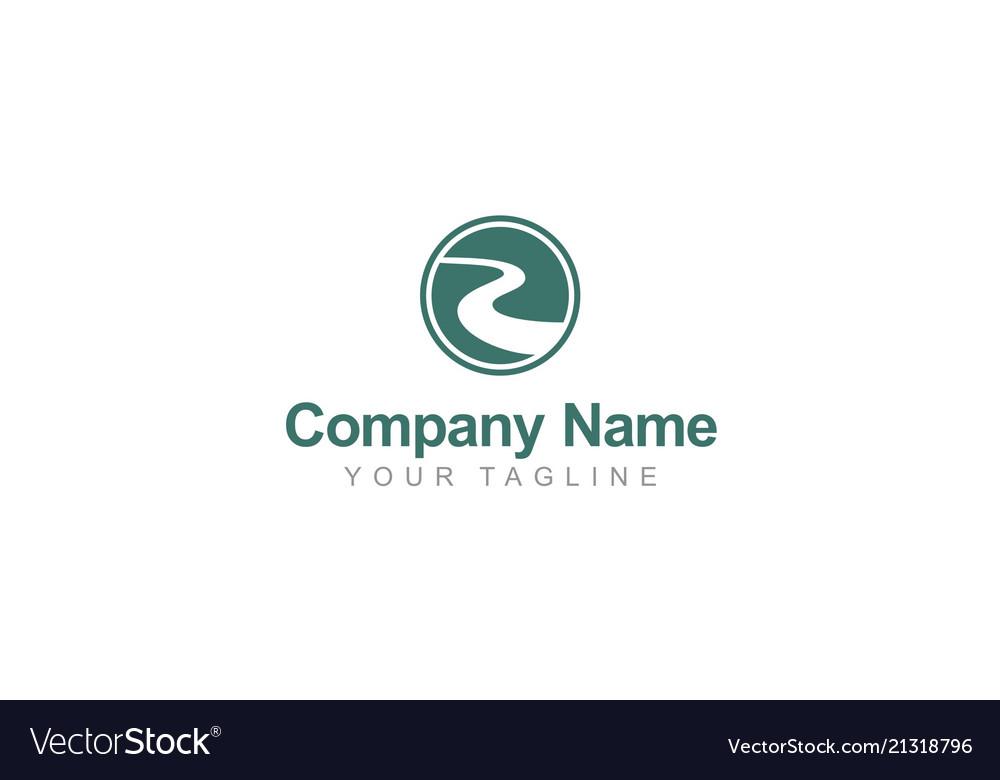 Road river round abstract company logo