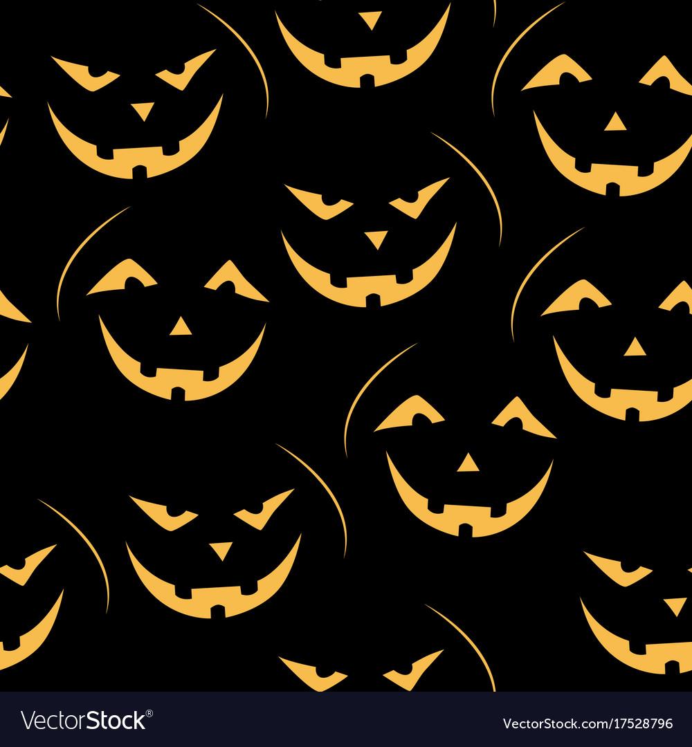 Scary Jack O Lantern Pattern Royalty Free Vector Image