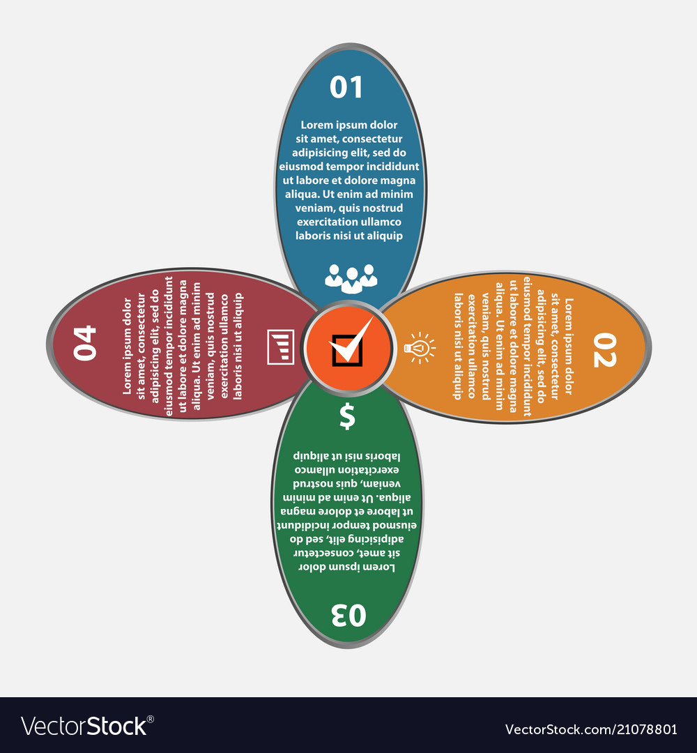 Flover circle infographics set template fo