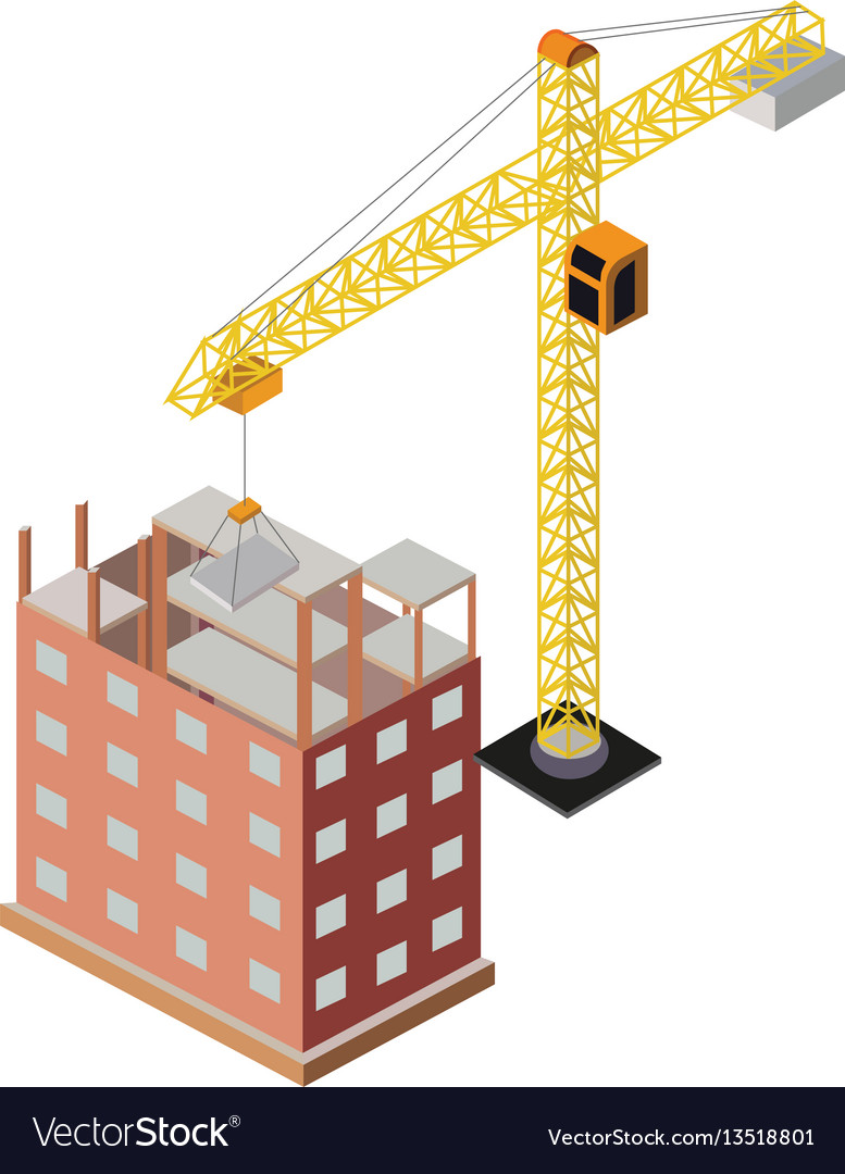 Industrial objects isometrics vector image