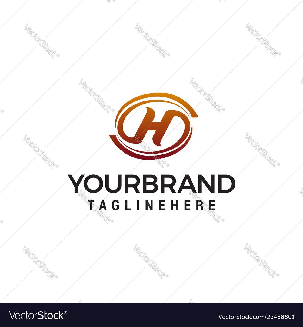 Letter h elegant logo design concept template