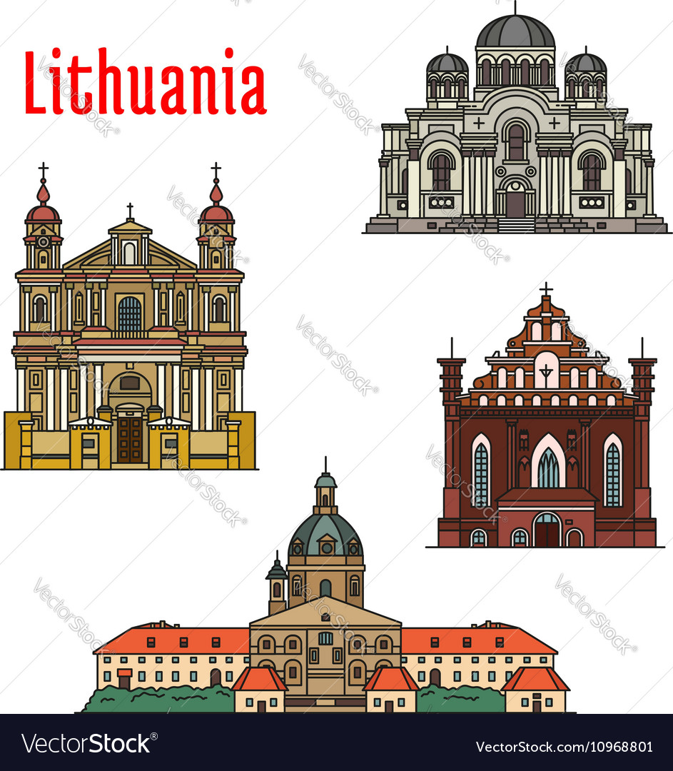 Lithuania famous architecture icons
