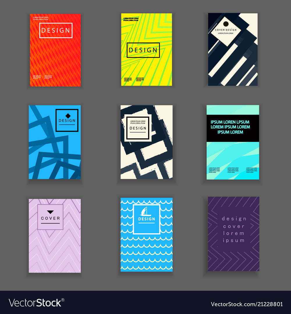 Stylish book cover design template vector image
