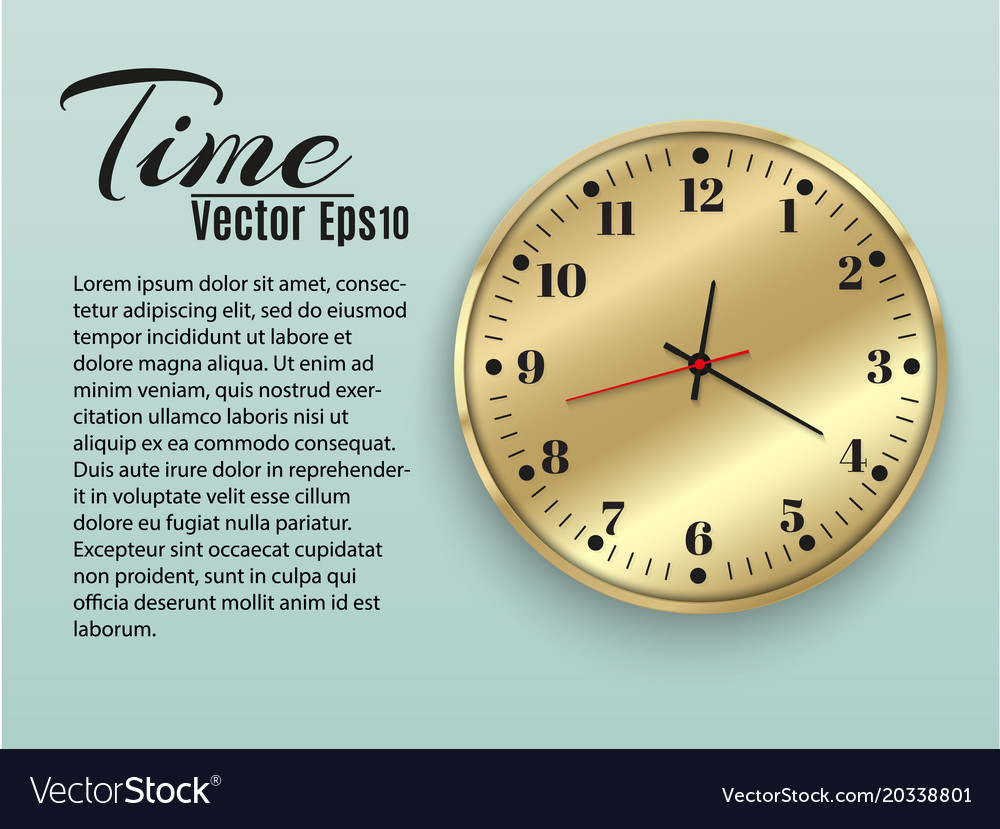 Wall clock office template design in