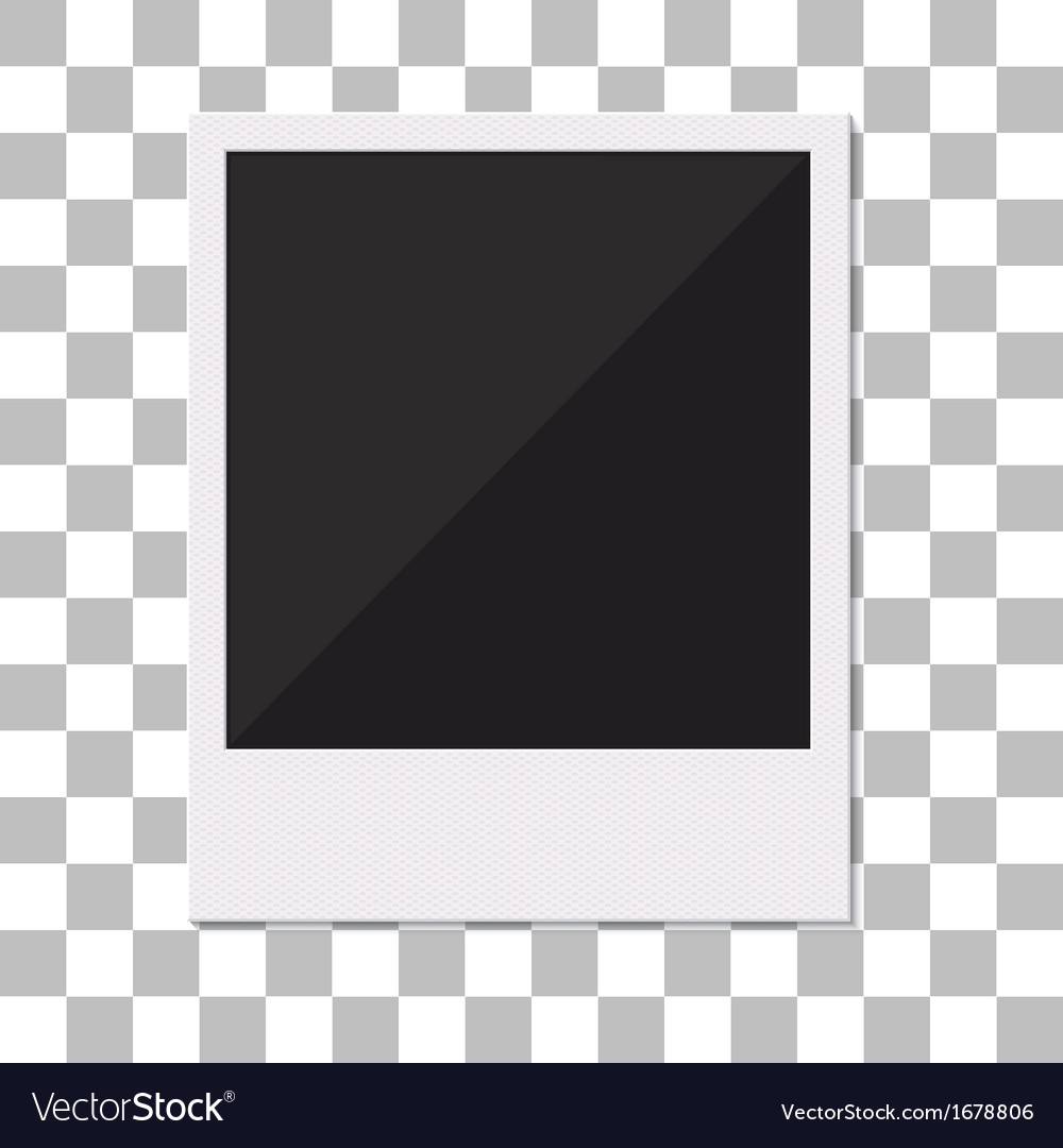 Blank retro polaroid photo frame