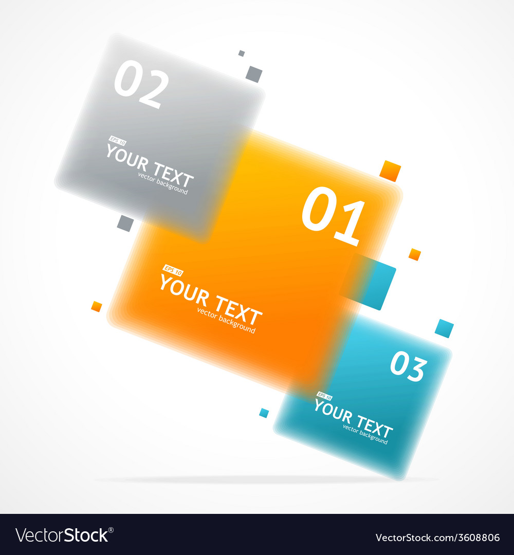 Blurred colorful text boxes infographics