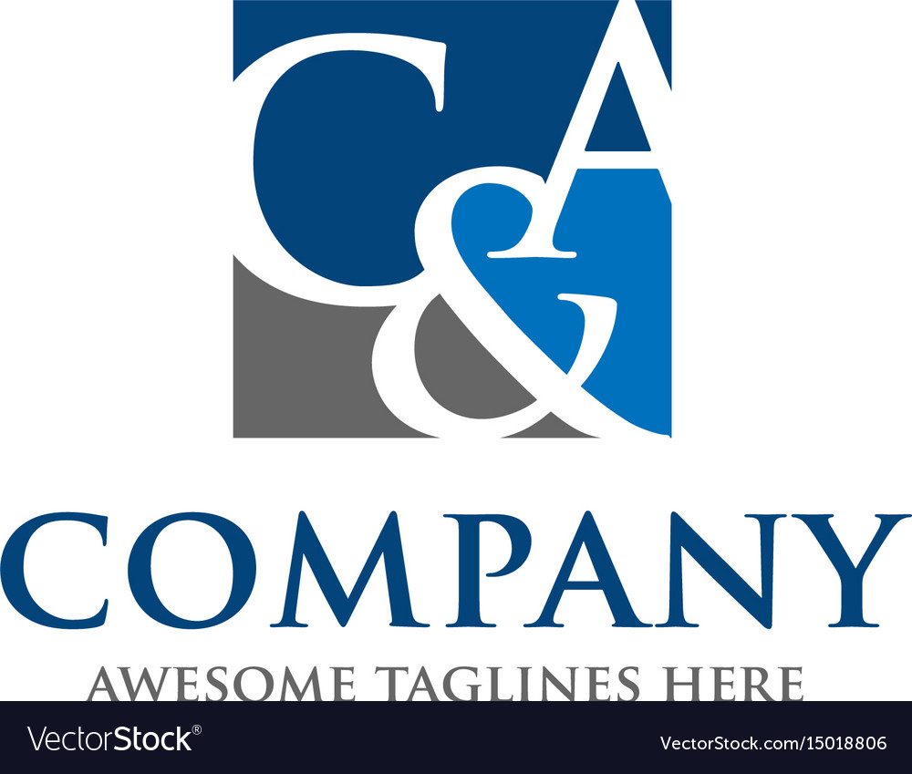 C and a letter logo design