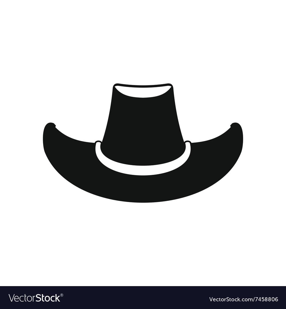 Cowboy hat black icon vector image