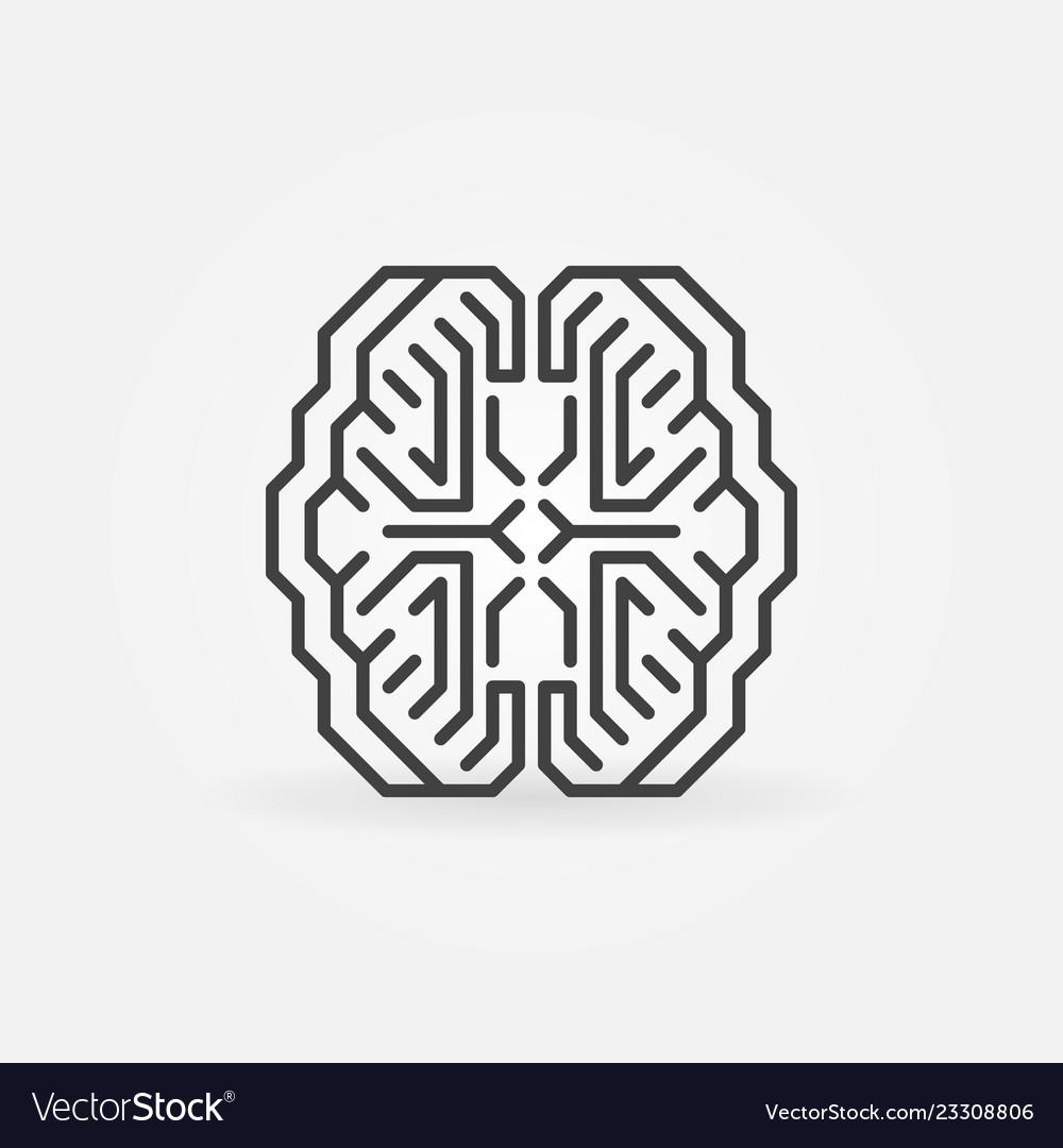 Digital smart brain minimal concept outline