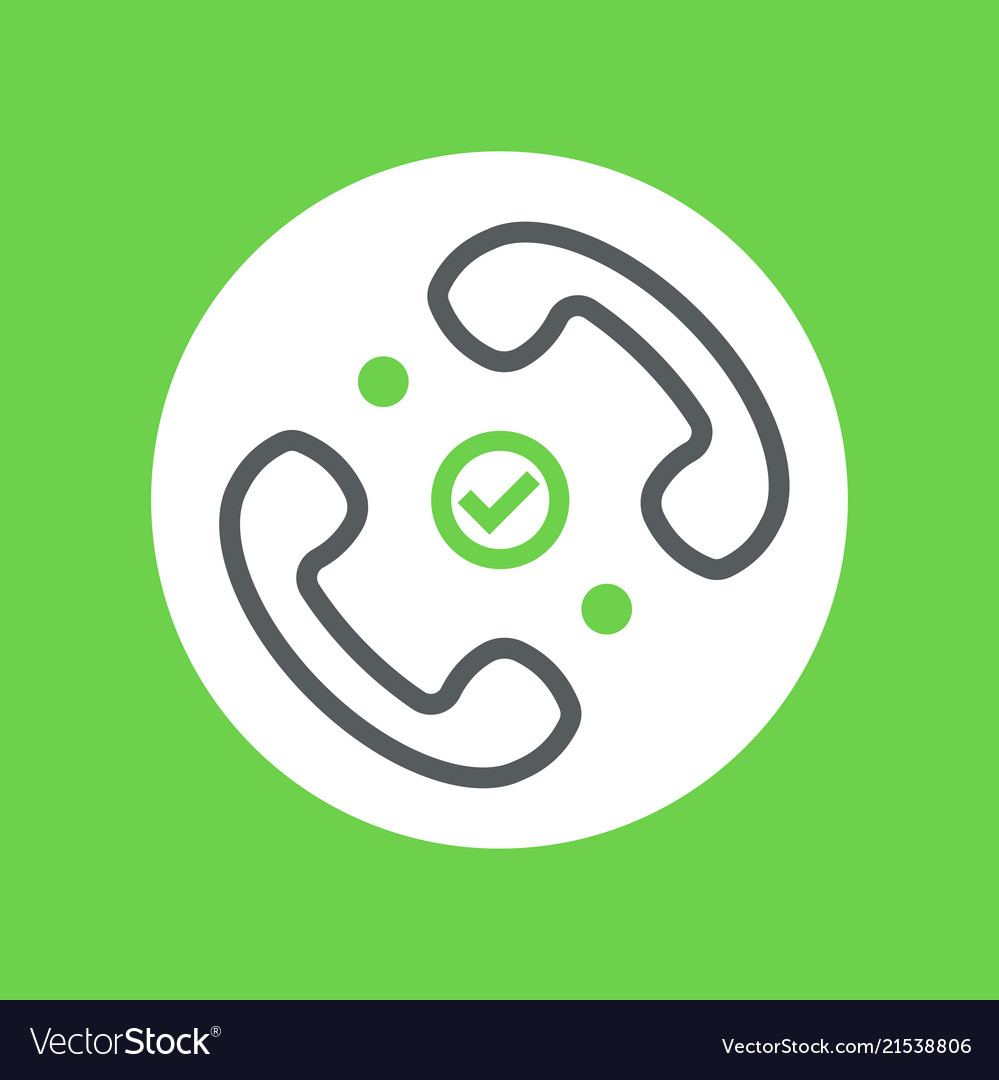 Good connection handset symbol