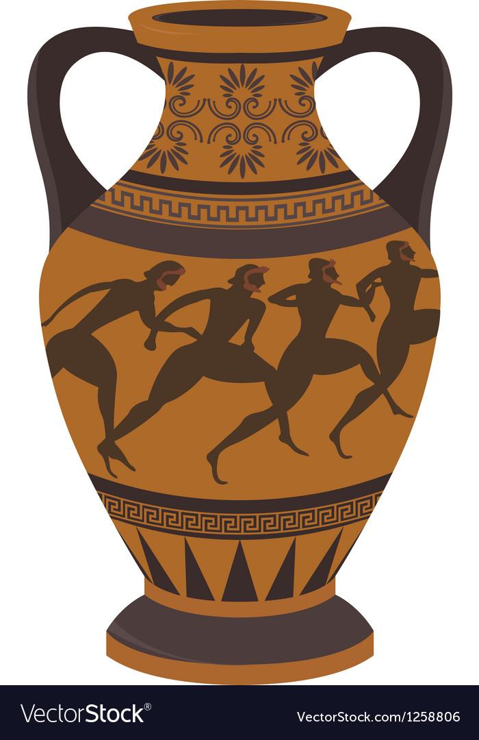 Greek Vase Royalty Free Vector Image Vectorstock