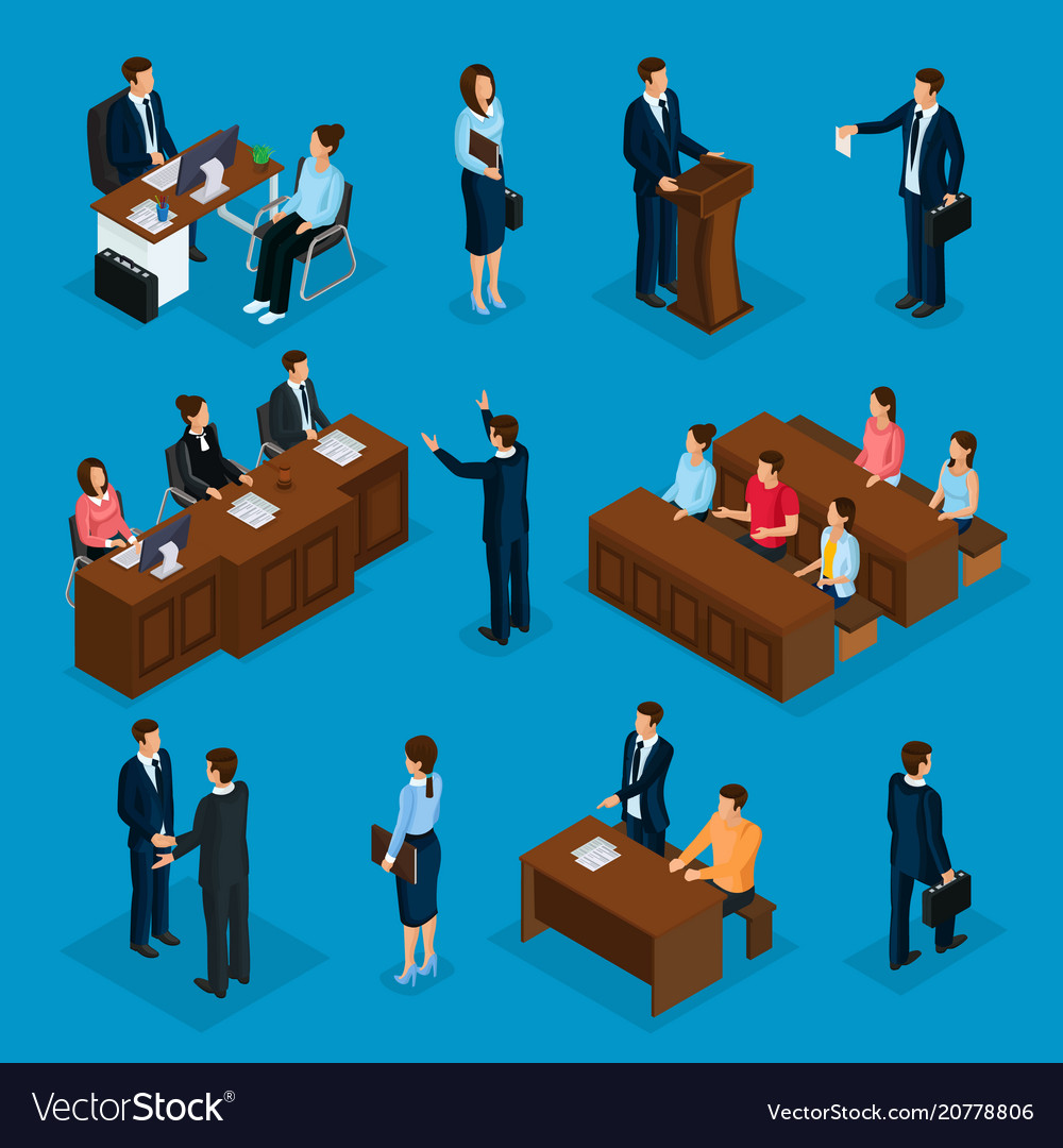 Isometric lawyers collection