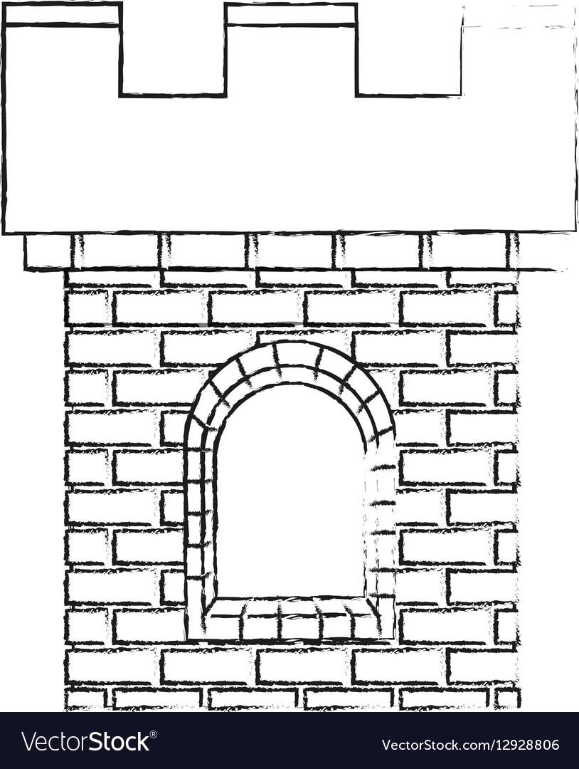 Medieval cartoon icon vector image