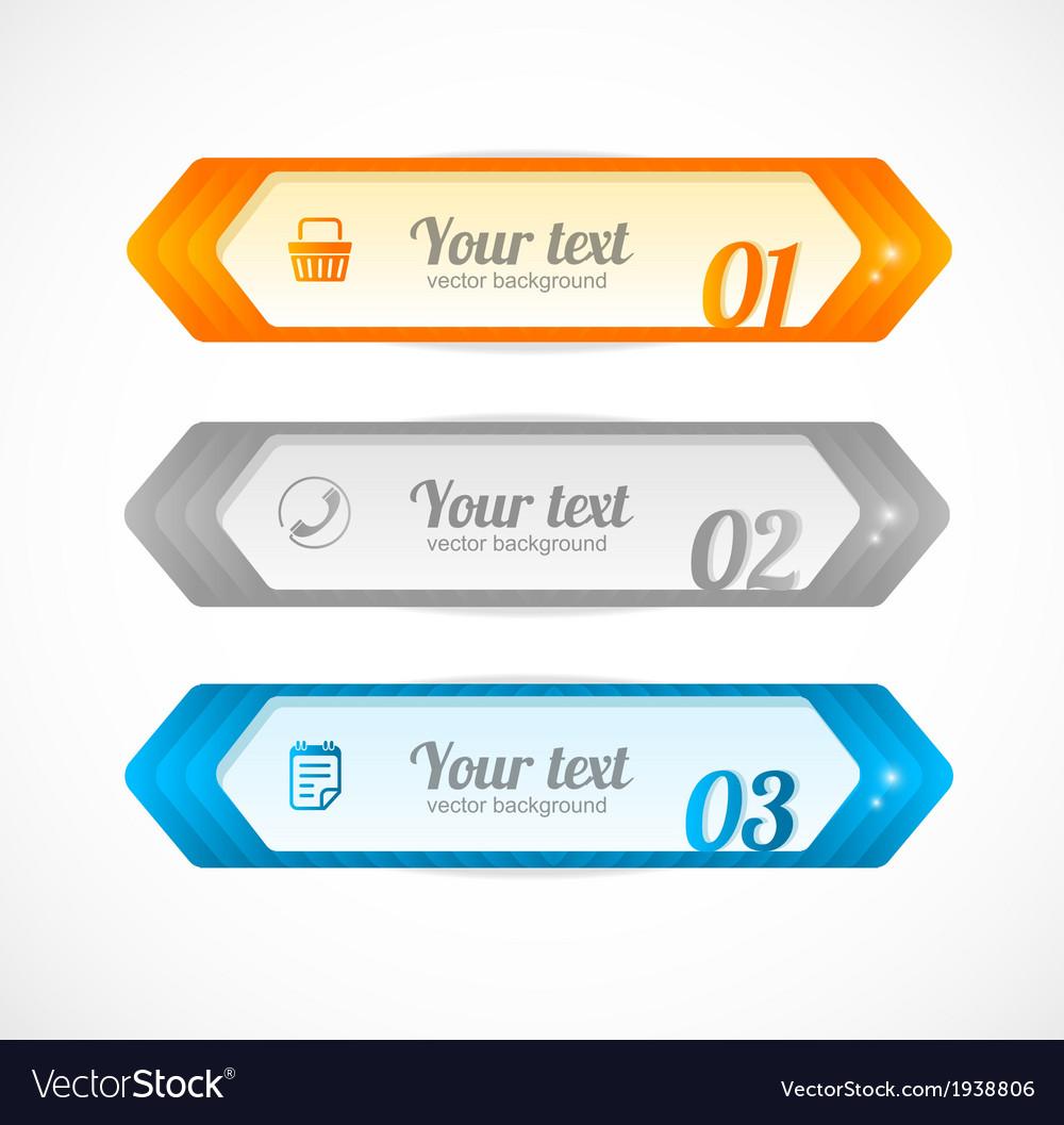 Modern glossy infographics options arrow banner