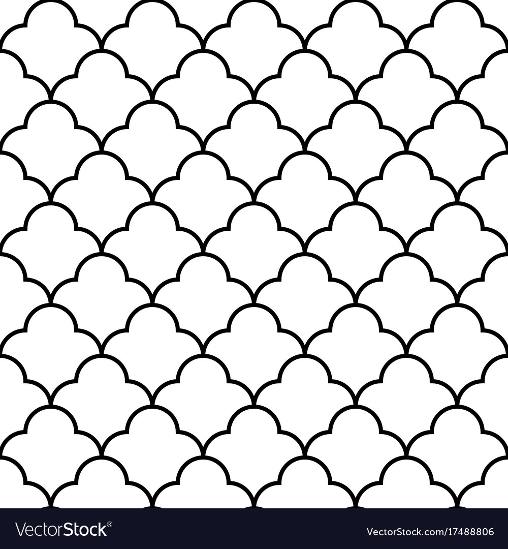 Scales geometric seamless pattern background