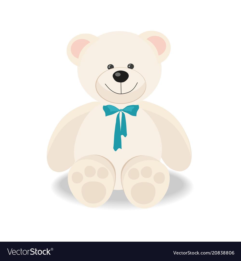 White toy teddy bear isolated on white