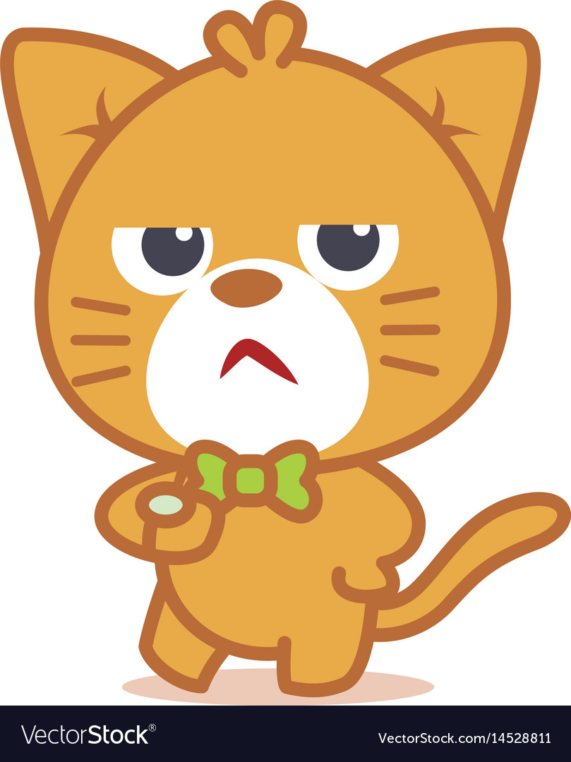 Angry cat character style