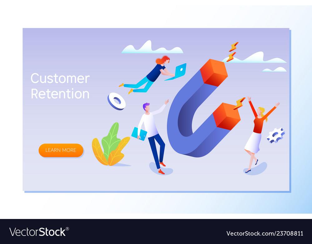 Customer retention or loyalty isometric