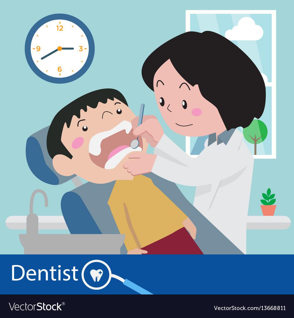 Dentist chair during a dental