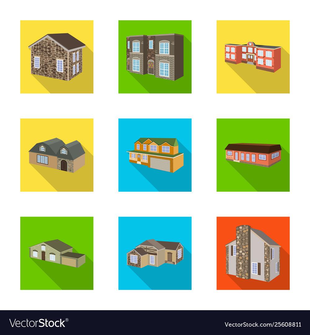 Design facade and housing logo set of